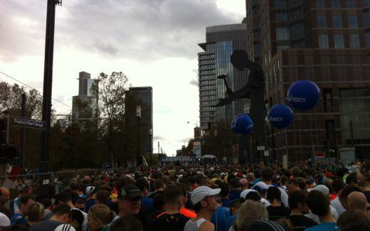 Frankfurt Marathon 2013 - am Start