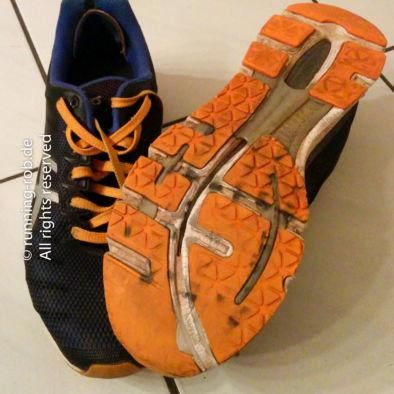 Trotz 1.800 Kilometern Laufleistung sind die Schuhe gut in Schuß - bis auf das Profil.