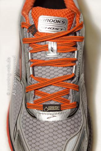 Wetterfeste Laufschuhe: Brooks Ghost GTX 8 mit Oberschicht aus atmungsaktivem und wasserdichtem GORE-TEX®