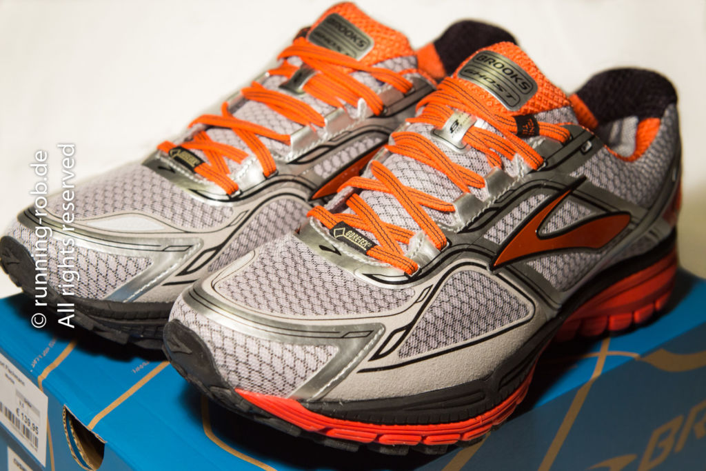 Brooks Ghost GTX 8 mit GORE-TEX® Obermaterial.
