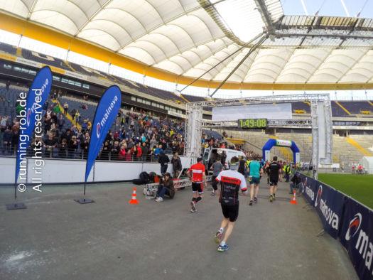 Zieleinlauf Frankfurter Halbmarathon 2017