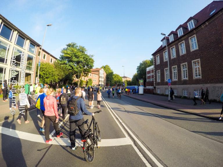 Münster Marathon 2017 auf dem Weg zum Start