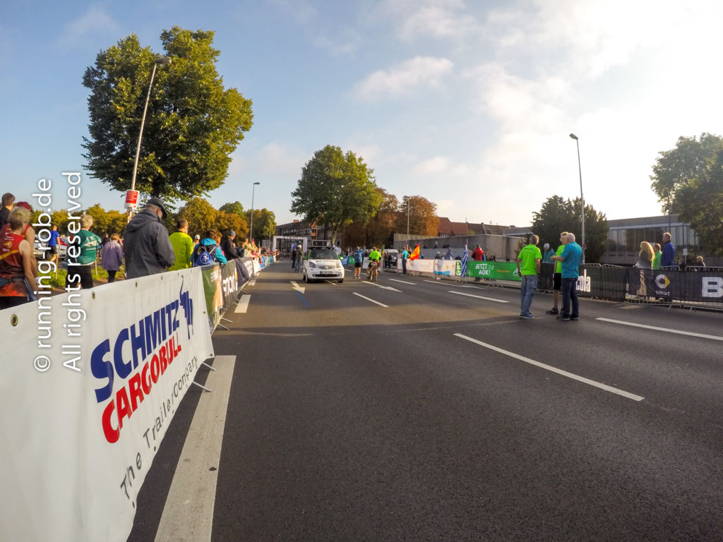Münster Marathon 2017 Start und Führungsfahrzeug