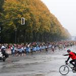 Berlin-Marathon 2017: Führungsfeld kurz nach dem Start