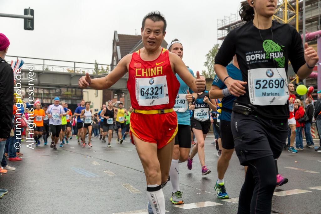 Berlin-Marathon 2017 am Bahnhof Yorckstraße - Von China nach Berlin