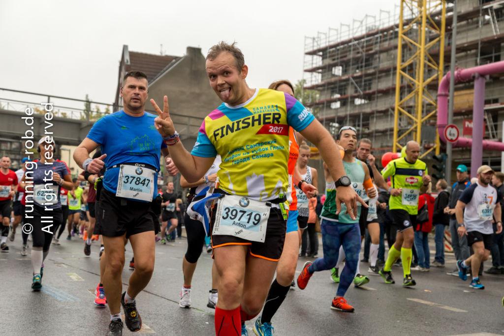 Berlin-Marathon 2017 am Bahnhof Yorckstraße